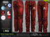 DUTY REDDISH Male Cargo Pants MESH - ADAM, AESTHETIC, SIGNATURE GIANNI- GERALT, SLINK, LEGACY, JAKE - FashionNatic