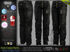 DUTY BLACK Male Cargo Pants MESH - ADAM, AESTHETIC, SIGNATURE GIANNI- GERALT, SLINK, LEGACY, JAKE - FashionNatic
