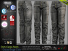 DUTY GREYED Male Cargo Pants MESH - ADAM, AESTHETIC, SIGNATURE GIANNI- GERALT, SLINK, LEGACY, JAKE - FashionNatic