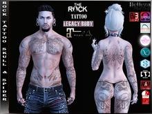 [ HUD ] Rock Tattoo Unisex - Skulls & Spider ( Full Body )