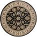 PE: Round Black Floral Rug
