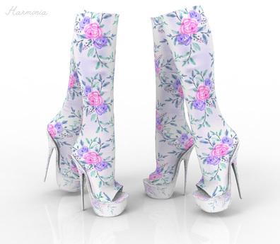 *** Harmonia Rose Vintage Peep Toe Boots Maitreya Kupra Slink Belleza Legacy