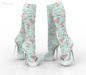 *** Harmonia Sky Vintage Peep Toe Boots Maitreya Kupra Slink Belleza Legacy