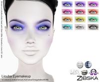 Zibska ~ Liouba Eyemakeup in 12 colors with Lelutka, Genus, Catwa, LAQ, Omega and Universal Tattoo BOM layers