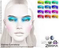 Zibska ~ Waimea Eyemakeup in 12 colors with Lelutka, Genus, LAQ, Catwa and Omega appliers and Universal Tattoo/BOM layer