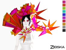 Zibska ~ Sidony Color Change Headpiece and Collar