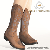 DIRTY PRINCESS- Lil Cowgirl Princess Boots w/Hud 14 Colors
