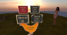 BarnYard bird signs /modifiable
