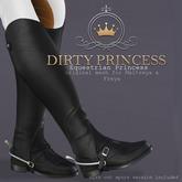 DIRTY PRINCESS- Equestrian Princess Riding Boots- BLACK