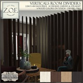 Z.O.E. Verticals Room Dividers