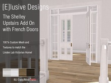 [E] Shelley Upstairs Wall with French Doors Add On