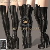 DIRTY PRINCESS- Addicted Princess Boots w/Hud 14 Colors
