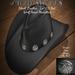 Black Leather Ice CB Hat Stone's Works