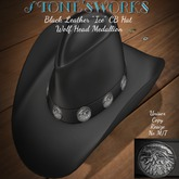 Black Leather Ice CB Hat Stone's Works