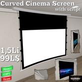 *DenPaMic* Curved Cinema Screen