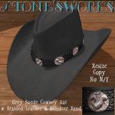 Grey Suede Reindeer CB Hat Stone's Works