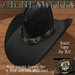 Black Leather Lion Head CB Hat Stone's Works