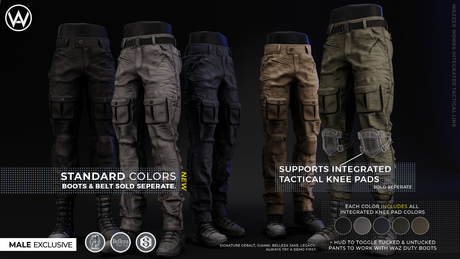 [WAZ] Integrated Tactical Pants (Plain Pack)