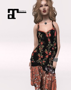 XK Maitreya Lace Flapper Dress Rose