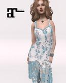 XK Maitreya Lace Flapper Dress True Blue Rose