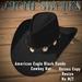 Amer Eagle Black Suede CB Hat Stone's Works