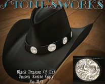 Black Leather Dragon CB Hat Stone's Works_texture