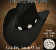 Black Felt Dragon CB Hat  Stone's Works