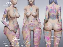 -[CL]- Leah Tattoo (BOM/Legacy/Maitreya/Belleza/OMEGA/Slink)