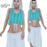 Eyelure Boho Skirt   White