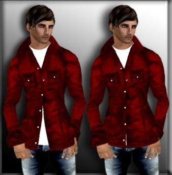 KREW Red Denim Button Down Shirt *