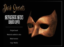 Dark Secrets - Masquerade Masks Corroded Copper