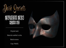 Dark Secrets - Masquerade Masks Corroded Cyan