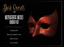 Dark Secrets - Masquerade Masks Corroded Red
