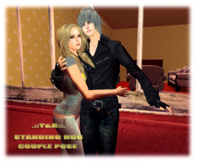 .::Y&R::.Design standing hug couple pose(boxed)
