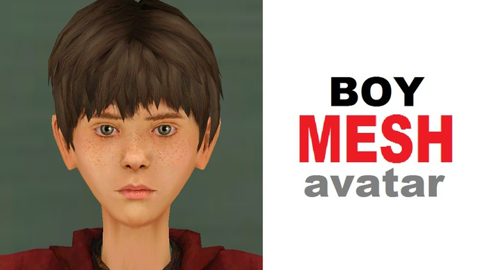BOY Complete 100% MESH Avatar FULL MOD and TRANS