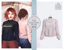 The Secret Store - Myra Comfy Sweater - Maitreya Lara, V-Tech, Belleza Freya, Slink Hourglass - Pure