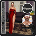 [RnR] Swag Whisper Cocktail Dress Outfit for Maitreya, Includes Dress, Heels & Jewelry (Scarlet) [New Release]