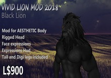 VIVID AESTHETIC Black Lion Avatar MOD