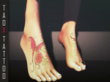 .: TAOX :. TaTToo Applier // Feets Rose And Red Butterfly