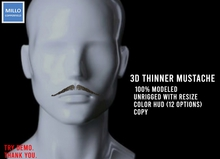 Millo Copperfield - thinner mustache with resize + HUD (12 options), Copy
