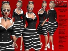 **LADIJA BLACK VERSION PIN UP STYLE COMPLET OUTFIT** (WEAR)