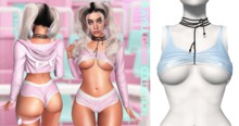 Spoiled - Playful Gamer Top Baby Blue