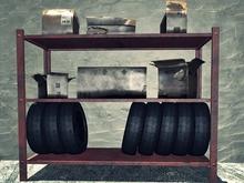 Garage Tire Rack - Mesh - 2 Prim each