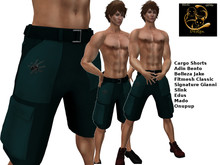 [RG] Green Spider Cargo Shorts  (Box)