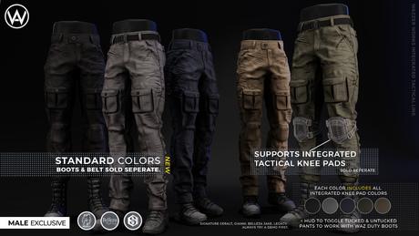 [WAZ] Integrated Tactical Pants (Black)