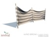 Revival   wind break classic stripe grey