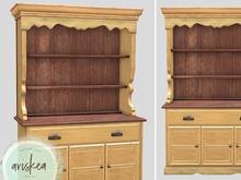 Ariskea[Primavera] Distressed Cabinet Yellow