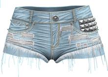 RIOT / Isla Denim Shorts - Stonewash