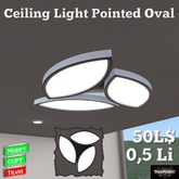 *DenPaMic* Ceiling Light Pointed Oval