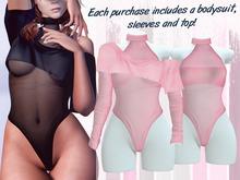 Lunar - Miki Top & Bodysuit - Baby Pink